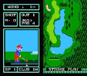Famicom Computer: Golf Japan Course Screenshot
