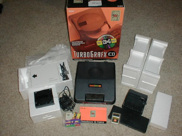 TurboGrafx CD Box and Contents