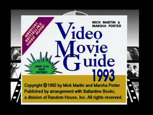 VIS Video Movie Guide 1993 screenshot