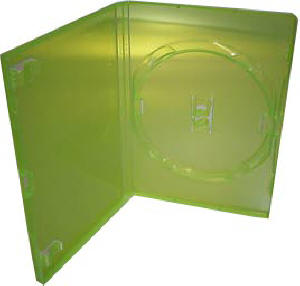 Green (XBOX 360 color) 14mm DVD Case (holds 1)