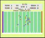 Texas Instruments TI-99/4A Football Screenshot (picture courtesy of TI994.com)